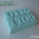 The one and only Binary 3D GEEKSOAP Massage Bar of Soap