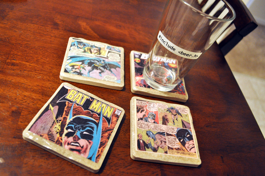 The Pink Toque» Tutorials » Tutorial: DIY Comic Book Coasters