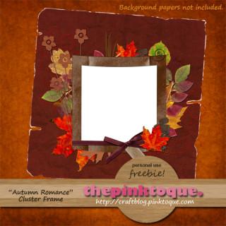 Autumn Romance Cluster Frame