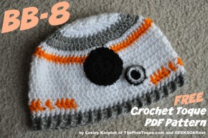 BB-8 Toque Pattern by Lesley Karpiuk
