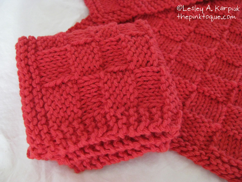 Knitted Basket Weave Dishcloth Pattern : The Pink Toque  Knit   Unoriginal Bordered Basket Weave Dishcloth