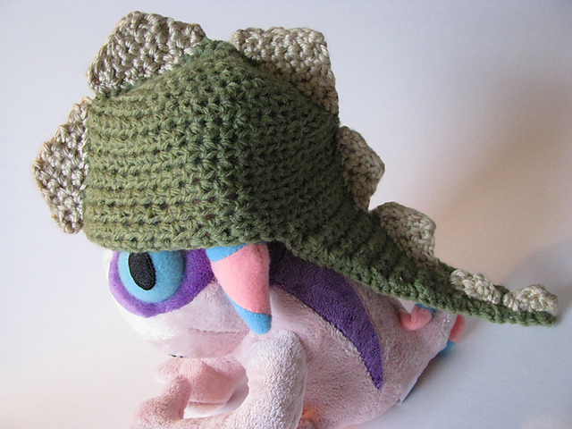 Free Crochet Pattern For Dinosaur Beanie : Gallery For > Crochet Dinosaur Hat Free Pattern