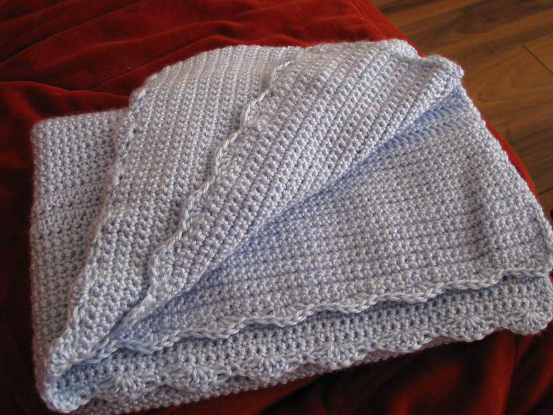 ... ? Knit & Crochet Tutorials ? Free Pattern: Scalloped Baby Blanket