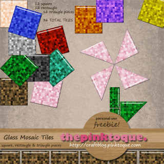 Glass Mosaic Tiles Freebie