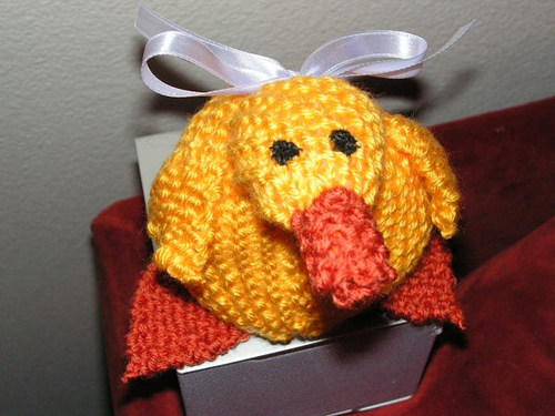 Free Knitting Pattern Duck Hat : The Pink Toque  Knit Plush   Knitted Duck Plush
