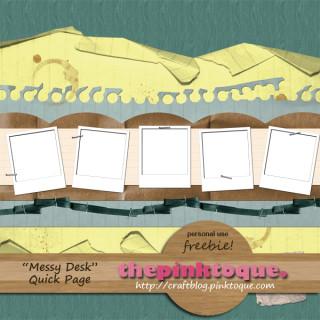 Messy Desk QP Freebie