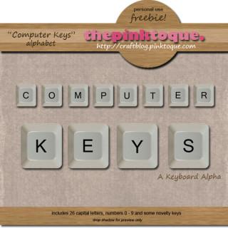 Computer Keys Alpha
