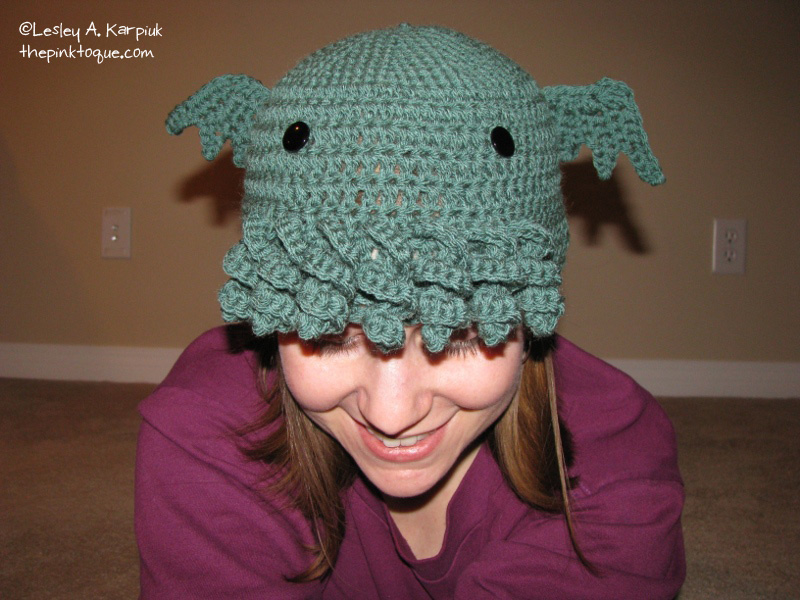 The Pink Toque Hats Showcase Crochet Cthulhu Toque