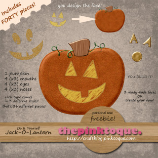 DIY Jack-O-Lantern Freebie Kit