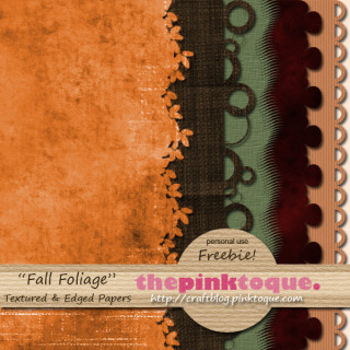 My Fall Foliage Textured Edged Papers