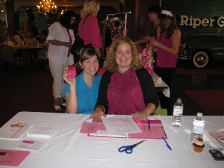 Me with Julia at the Indianapolis Hot Pink Party