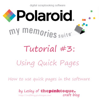 My Memories Suite Tutorial 3 - Using Quick Pages